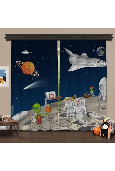 Cipcici Tiyatrosu Uzaylı Kankalar 2 Kanat Blackout Perde 280x260 cm