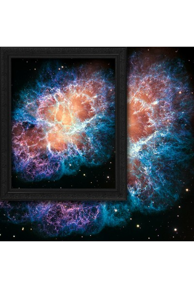 Cipcici Yengeç Bulutsusu'nun Dev Hubble Mozaiği 2 Kanat Blackout Perde 280x260 cm