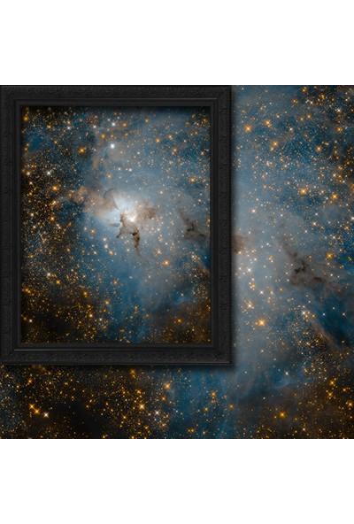 Cipcici Lagün Bulutsusu Kızılötesi Işık Görünümü 2 Kanat Blackout Perde 280x260 cm