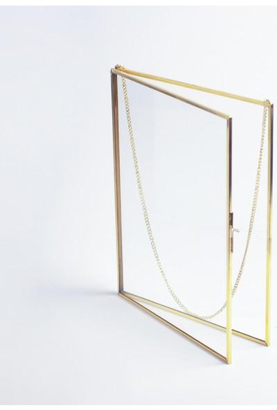El Crea Designs Gold Pirinç Brass Duvar Askılı Fotoğraf Çerçevesi