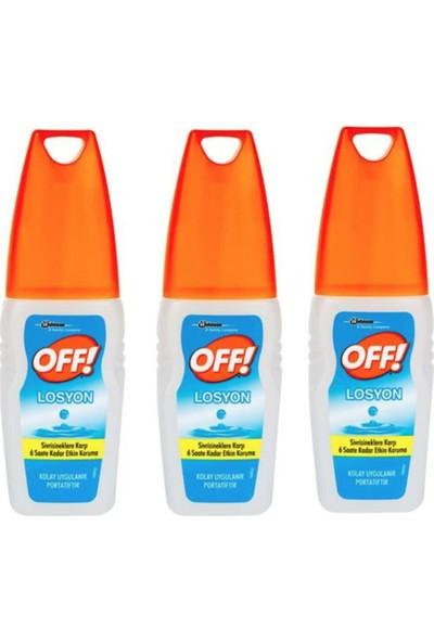 Off Sivrisineklere Karşı Koruyucu Losyon 100 ml 3'lü