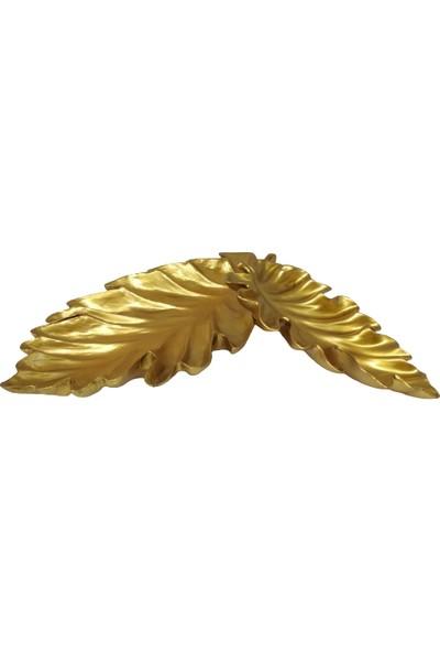 Arın Home Polyester Gold 2'li Yaprak Tabak