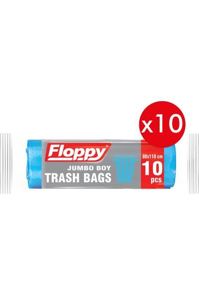 Floppy Jumbo Boy Çöp Torbası 80 x 110 cm 90 lt 10'lu