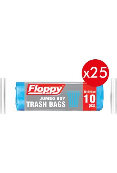 Floppy Jumbo Boy Çöp Torbası 80 x 110 cm 90 lt 10'lu 160 gr x 25