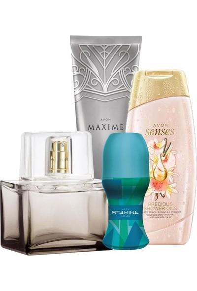 Avon Today Erkek Parfüm ve Duş Jeli Rollon Tıraş Losyonu Paketi