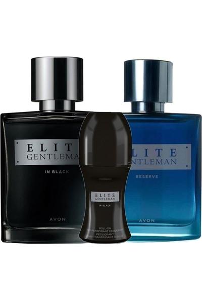 Avon Elite Gentleman In Black ve Reserve Erkek Parfüm Rollon Paketi
