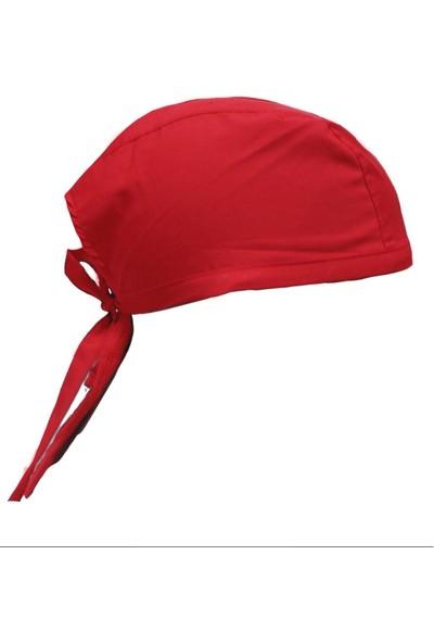 Dr. Mia Kadın-Erkek Şef Aşçı Bandana Aşçı Şapkası Aşçı Kep Kırmızı