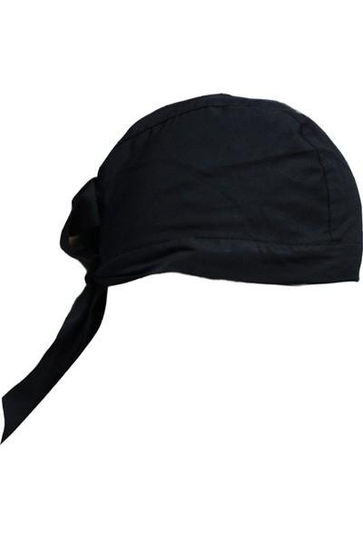 Dr. Mia Kadın-Erkek Şef Aşçı Bandana Aşçı Şapkası Aşçı Kep Siyah