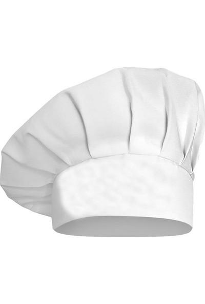 Dr. Mia Kadın-Erkek Şef Aşçı Kep Aşçı Şapkası Mantar Kep Alpaka Kumaş Beyaz