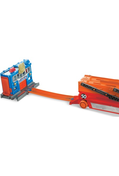 Hot Wheels Mega Mega Tır Turuncu, 50 Araç Kapasiteli, Rampalı GHR48