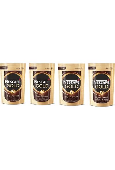 Nescafe Gold 200 gr x 4 Adet