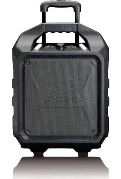 Lenco PA-90 Trolley Seyyar Taşınabilir Bluetooth Amfili Hoparlör-Radyo USB SD Kart Girişli
