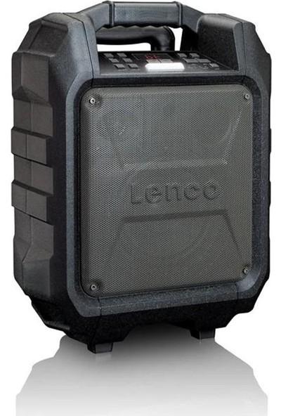 Lenco PA-60 Trolley Seyyar Taşınabilir Bluetooth Amfili Hoparlör-Radyo USB SD Kart Girişli