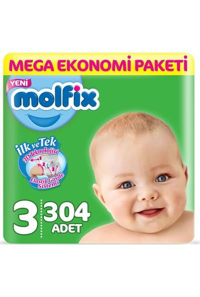 Molfix Bebek Bezi 3 Numara Midi 304'lü