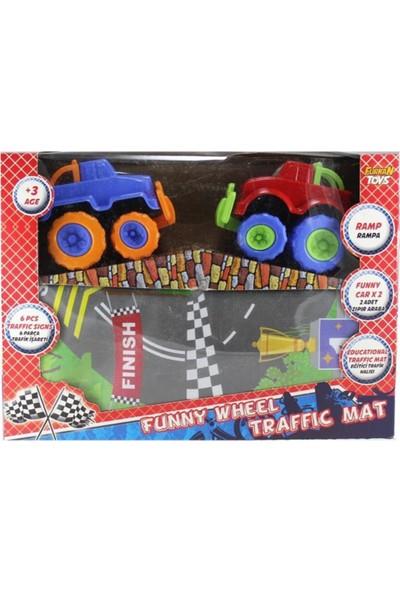 Furkan Toys Zıpır Teker Arabalar Eğitici Trafik Halısı