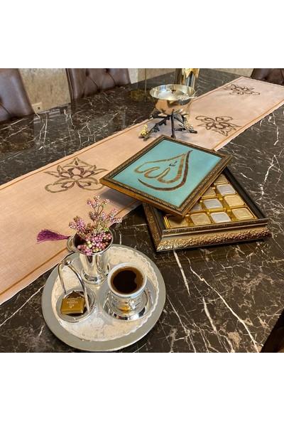Derzin Handmade Hediyelik Tablo Çikolata Kutusu 750 gr Ikra Bej