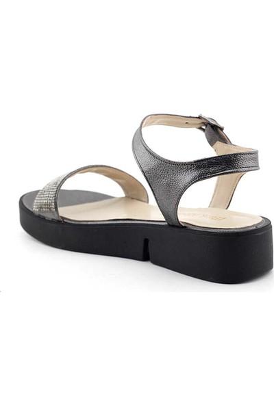 Miss Park Moda K2042 Kadın Sandalet-Platin