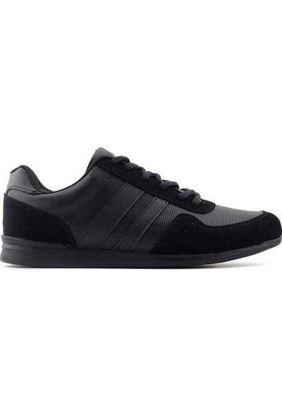 Liger 1004 102 Erkek Spor Ayakkabı-Siyah Siyah