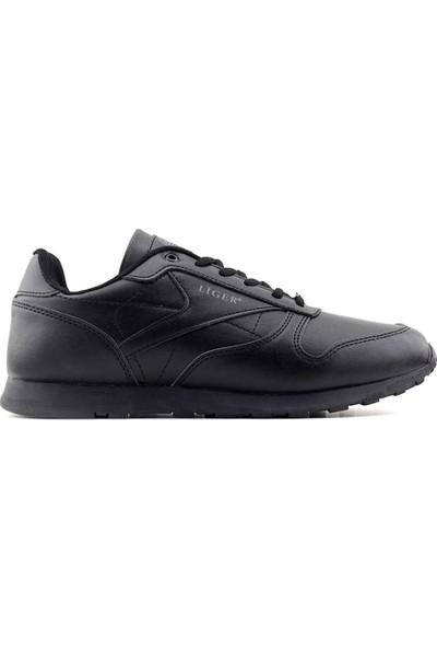Liger 2000 100 Erkek Spor Ayakkabı-Siyah Siyah