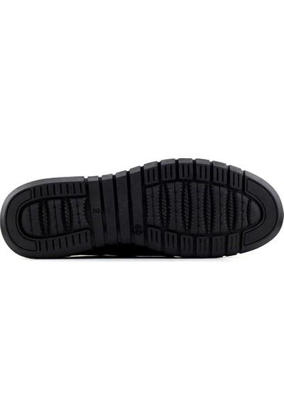 Gazioğlu 5007 Deri Erkek Ayakkabı-Siyah