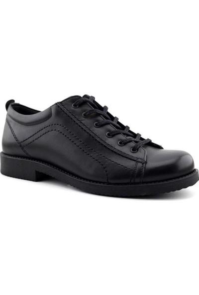 Gazioğlu 671 Deri Erkek Ayakkabı-Siyah
