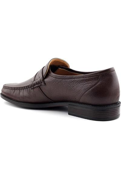 Gazioğlu 7067 Deri Erkek Ayakkabı-Kahve