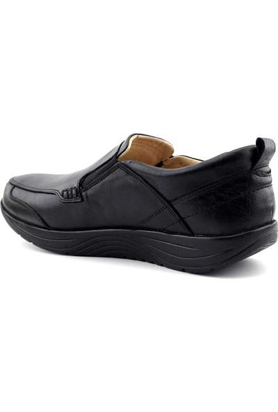 Alme 550-1 Deri Comfort Erkek Ayakkabı-Siyah