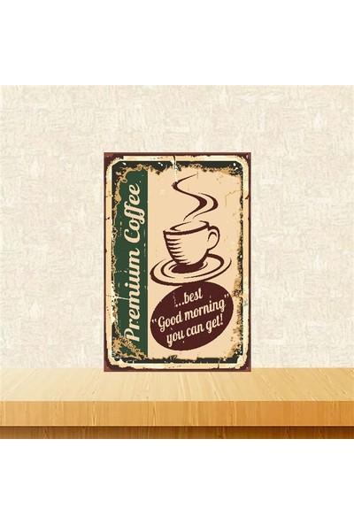 Selens Coffee Retro Ahşap Poster