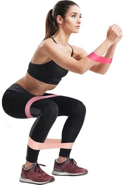 Leyaton 3'lü Aerobik Bandı Latex Bant Set Pilates Yoga Lastiği