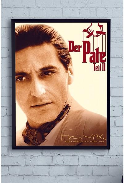 Postermanya The Godfather Part II-Baba 2 Film Afişi Çerçeveli Tablo 21 x 30 cm