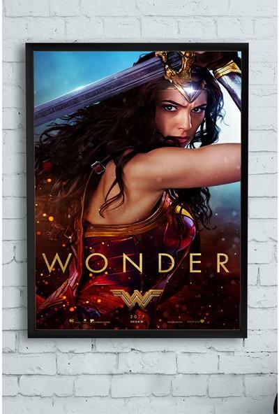 Postermanya Wonder Woman - Harika Kadın Film Afişi Çerçeveli Tablo 21 x 30 cm