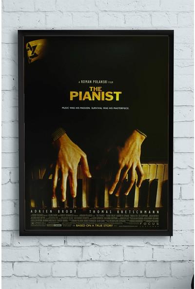 Postermanya The Pianist-Piyanist Film Afişi Çerçeveli Tablo 21 x 30 cm