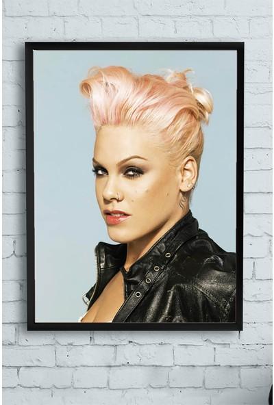 Postermanya Pink Çerçeveli Tablo 2 21 x 30 cm