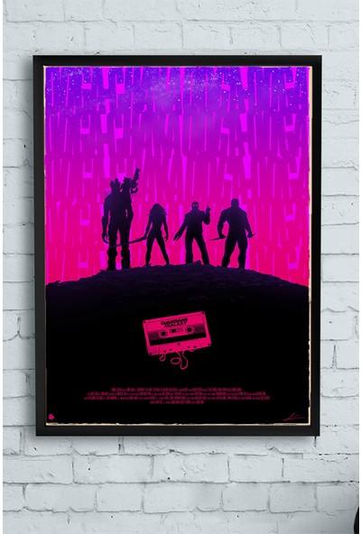 Postermanya Guardians Of The Galaxy Film Afişi Çerçeveli Tablo 6 21 x 30 cm