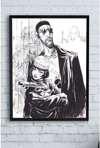Postermanya Leon-Sevginin Gücü Film Afişi Çerçeveli Tablo 8 21 x 30 cm