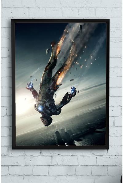 Postermanya Iron Man-Demir Adam Film Afişi Çerçeveli Tablo 3 21 x 30 cm