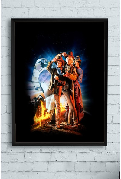 Postermanya Back To The Future Film Afişi Çerçeveli Tablo 3 21 x 30 cm