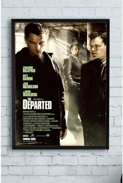 Postermanya The Departed-Köstebek Film Afişi Çerçeveli Tablo 21 x 30 cm