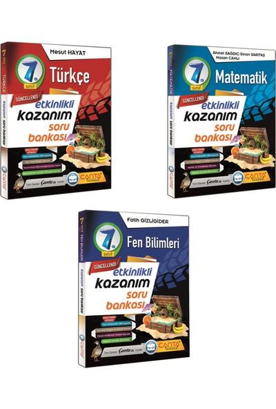 Çanta Yayınları 7. Sınıf Kazanım Türkçe Matematik ve Fen Bilimleri Soru Bankası Seti