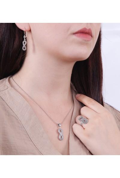 Magnamina Sonsuzluk Model Mardin Hasırı Gümüş Set