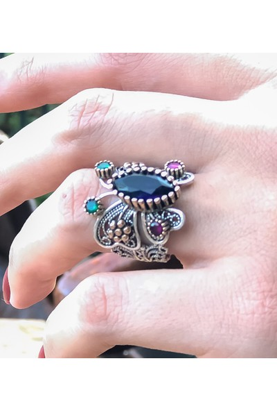 Magnamina Kelebek Model Hercai Gümüş Yüzük