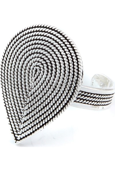 Magnamina Damla Model Mardin Hasırı Gümüş Yüzük