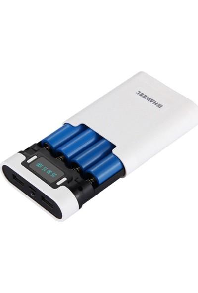 Haweel Diy 4X18650 Dijital Göstergeli Pil Powerbank Kutusu AL-32116