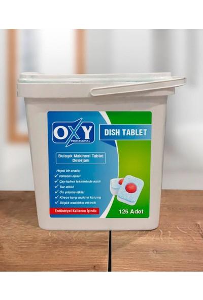 Oxy Professıonal Dısh Bulaşık Makinesi Tablet Deterjanı 125'li