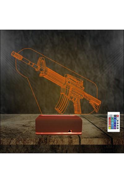 Algelsin 3 Boyutlu Gece Lambası Savaş Tasarımlı Masa Lambası