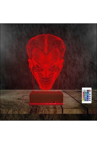 Algelsin 3 Boyutlu LED Gece Lambası Green Goblin Tasarımlı Masa Lambası