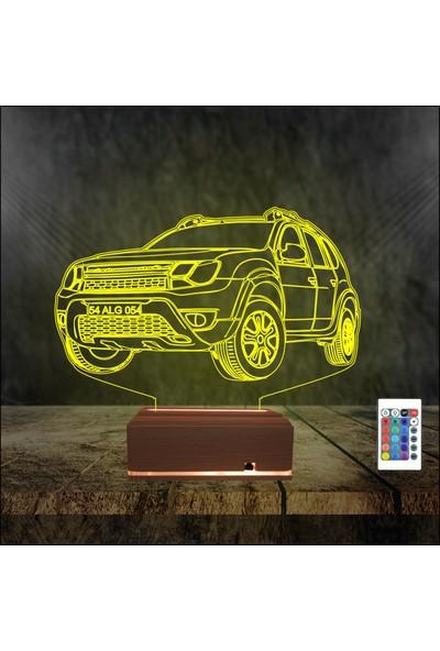 Algelsin LED Gece Lambası Jip Araba Tasarımlı 16 Renkli Masa Lambası