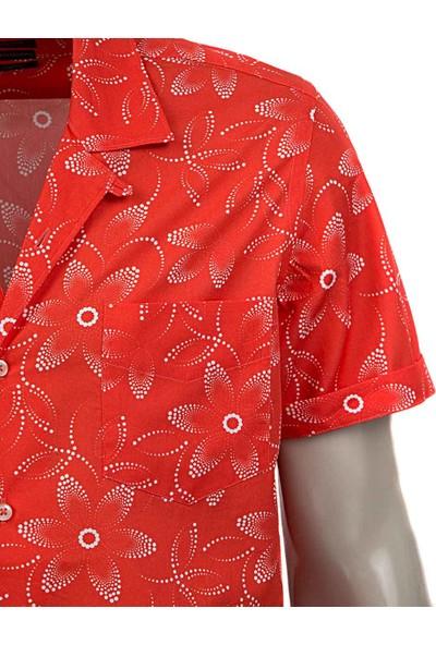 Twn Slim Fit Nar Çiçeği Baskılı Gömlek