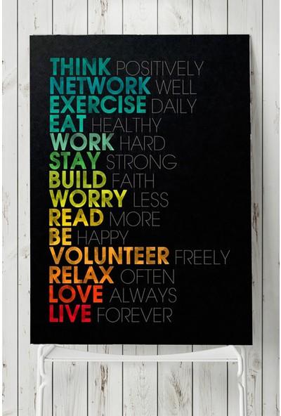 Postermanya Çalışmanın Kuralları Girişimcilik Poster 50 x 70 cm