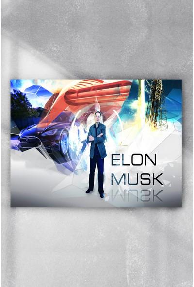 Postermanya Elon Musk Girişimcilik Poster 50 x 70 cm